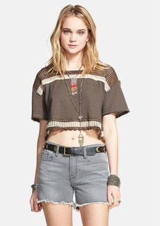 Free People 'Bunny' Open Knit Trim Envelope Back Crop Top