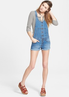 Free People Button Front Shortalls