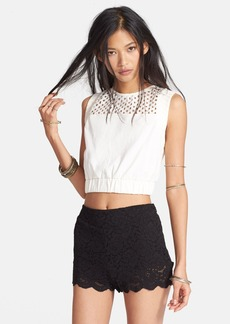 Free People 'Calla' Eyelet Yoke Sleeveless Top