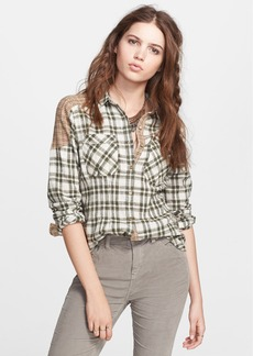 Free People 'Catch Up with Me' Cotton Shirt