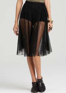Free People Culottes - Champagne Lace Lacey