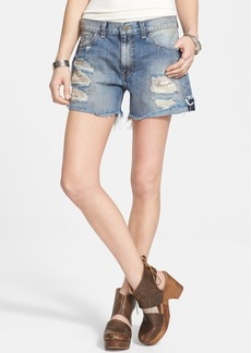 Free People Cutoff Denim Shorts (Avi Blue)
