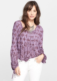 Free People 'Dazed' Print Jersey Top