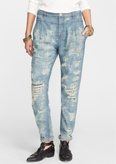 Free People Destroyed Denim Trousers