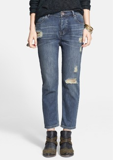 Free People Destroyed High Rise Boyfriend Jeans (Lotus)