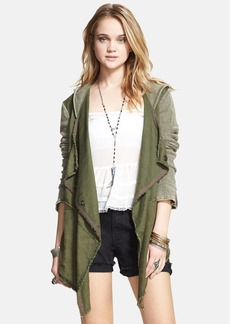 Free People Drapey Linen Blend Jacket
