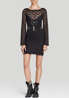 Free People Dress - Lovely In Lace Bodycon