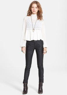 Free People 'English Rose' Embroidered Lace Top