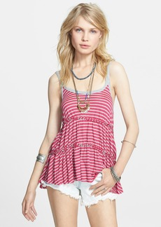 Free People 'Florence' Stripe Tiered Tank