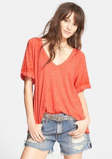 Free People 'Free Falling' Shirttail V-Neck Tee
