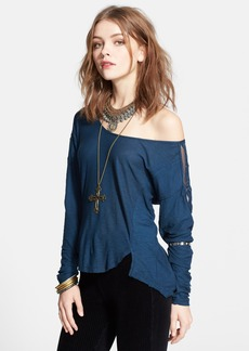Free People 'Gatsby' Embroidered Tee