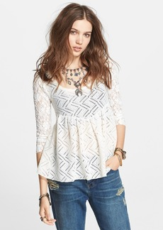 Free People 'Gracie' Brushed Lace Tee
