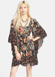 Free People 'Heart of Gold' Print Butterfly Sleeve Dress