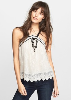 Free People 'Hearts Content' Mesh Lace Tank
