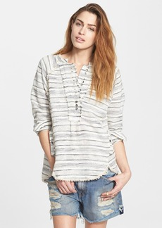 Free People 'Hideaway' Tweed Henley Top