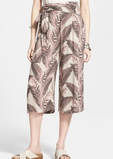 Free People High Rise Jacquard Print Culottes