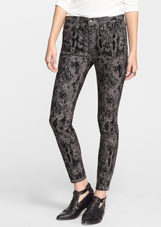 Free People High Rise Skinny Jeans (Black Combo)