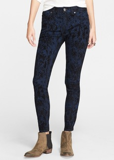 Free People High Rise Skinny Jeans (Indigo Combo)