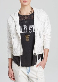 Free People Hoodie - Quilted Knit