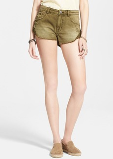 Free People 'Irreplaceable' Denim Cutoff Shorts (Army)