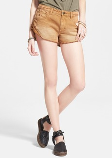 Free People 'Irreplaceable' Denim Cutoff Shorts (Burnt Orange)