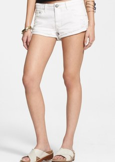 Free People 'Irreplaceable' Denim Cutoff Shorts (Polar White)