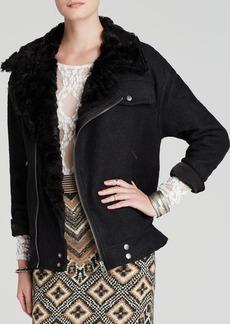 Free People Jacket - Faux Fur Collar