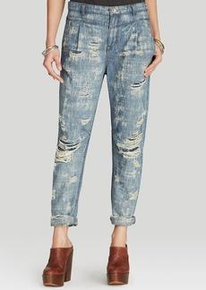 Free People Jeans - Destroyed Denim Boyfriend in Indigo