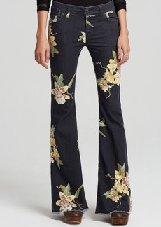 Free People Jeans - Floral Bali Flare in Miami Night Combo