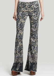 Free People Jeans - Indian Print Bali Flare Corduroy in Night Combo