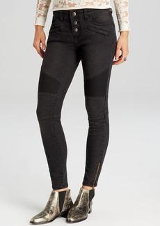 Free People Jeans - Seamed Moto Skinny in Moonlight