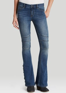 Free People Jeans - Stretch Seamed Flare in Crate Blue