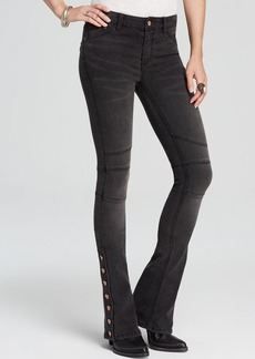 Free People Jeans - Stretch Seamed Flare in Darkest Black