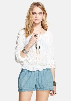 Free People 'Jewel' Eyelet Peasant Top