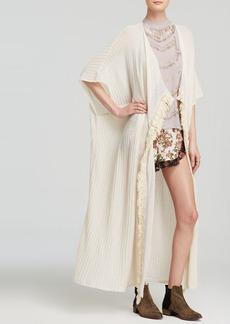 Free People Kimono Cardigan - Maillot Fringe
