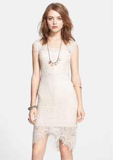 Free People Lace High/Low Sheath Dress