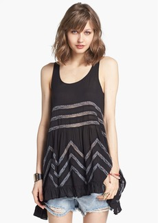 Free People Lace Trim Trapeze Slipdress