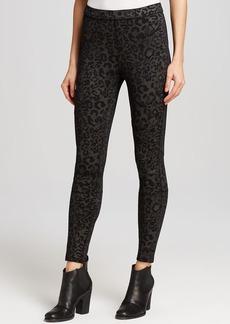 Free People Leggings - Leopard Print Seamed Skinny