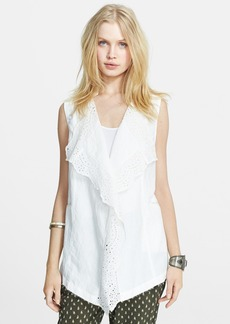 Free People Linen Blend High/Low Waistcoat