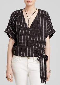 Free People Made In The Shade Wrap Top