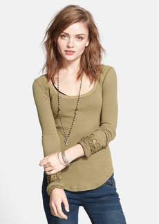 Free People 'Masquerade' Beaded Cuff Thermal Top
