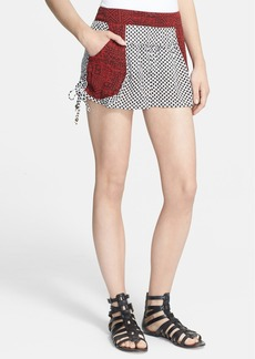 Free People Mix Print Shorts