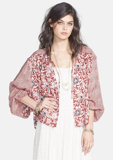 Free People Mixed Print Balloon Sleeve Jacket