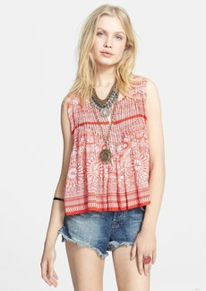 Free People 'Myna' Print Split Back Tank