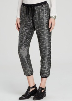 Free People Pants - Drippy Knit Sequin Jogger