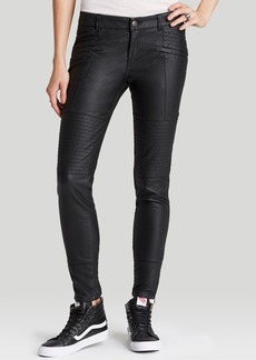 Free People Pants - Faux Leather Seamed Skinny