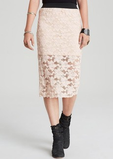 Free People Pencil Skirt - Knit Lace