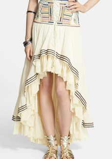 Free People 'Prairie Dreams' Cotton Blend High/Low Skirt