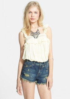 Free People 'Prairie' Ruffle Crochet Trim Crop Tank
