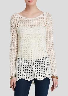 Free People Pullover - Fillet Crochet